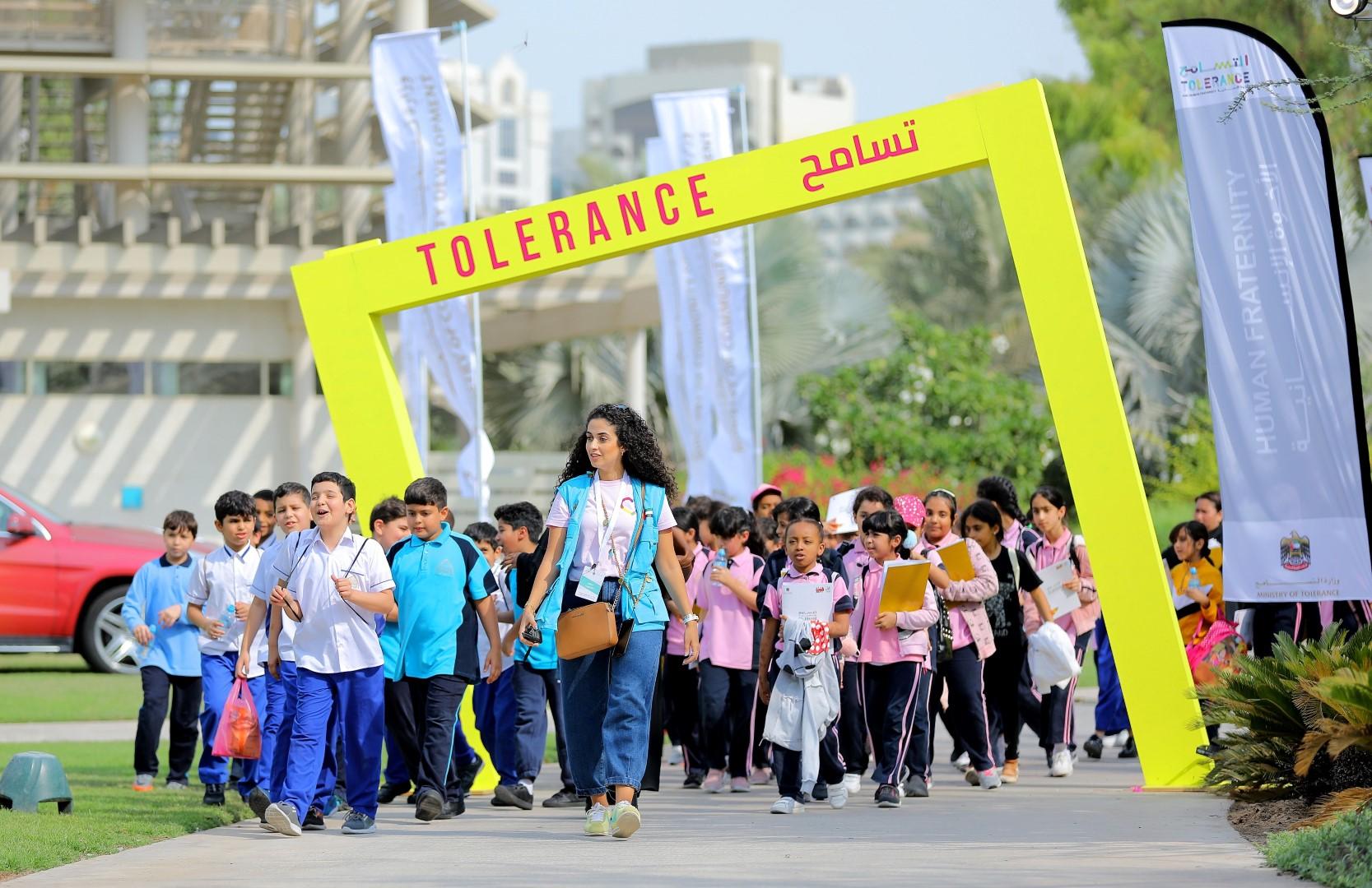 حضور لافت للأسر لأنشطة مهرجان التسامح في أبوظبي