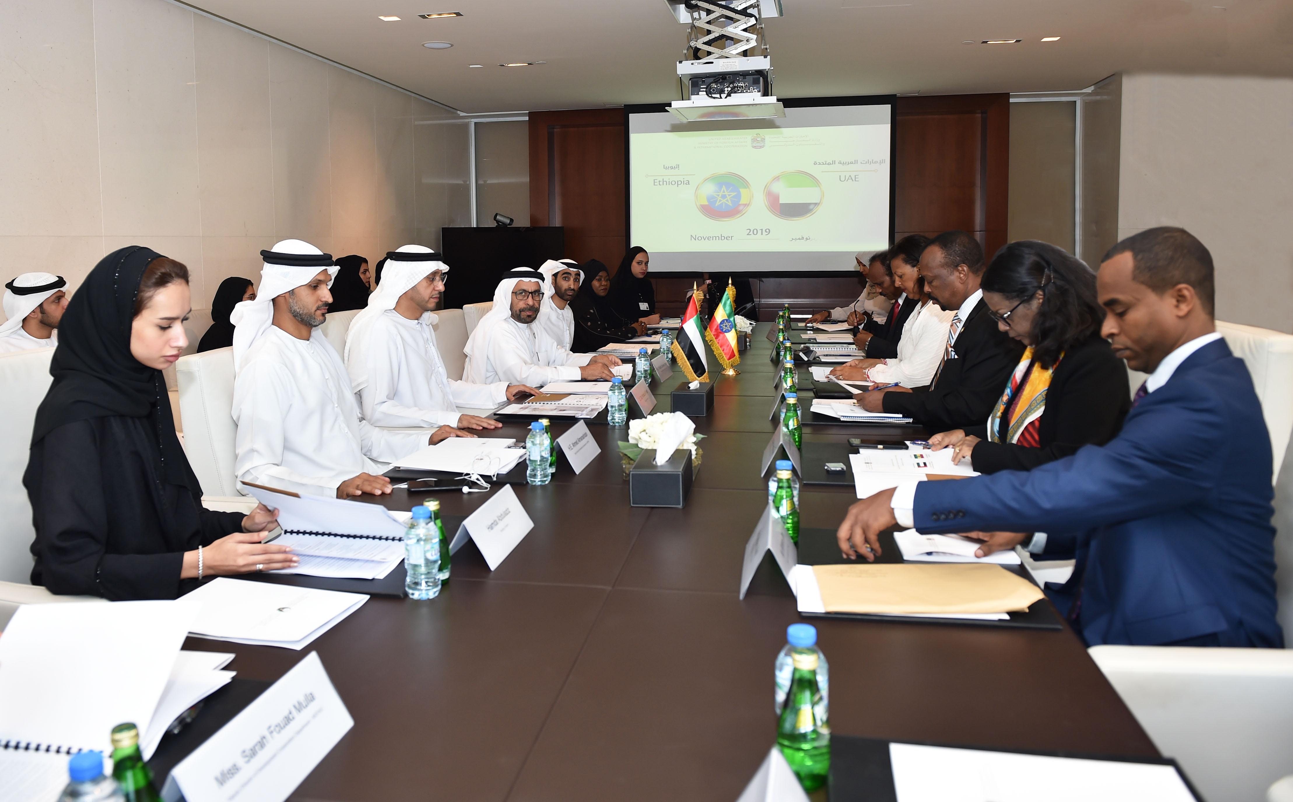 لجنة المشاورات السياسية بين الإمارات وأثيوبيا تبحث تعزيز التعاون