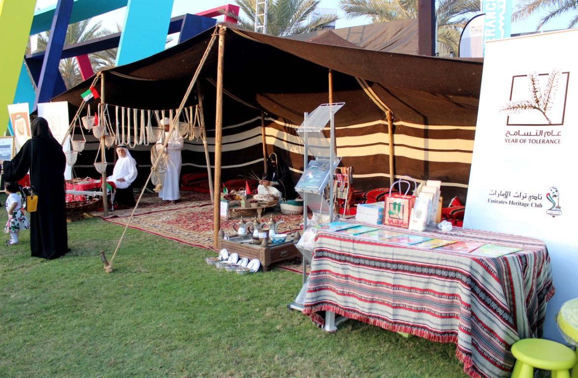 نادي تراث الإمارات يقدم عددا من الانشطة فى مهرجان التسامح والأخوة الإنسانية