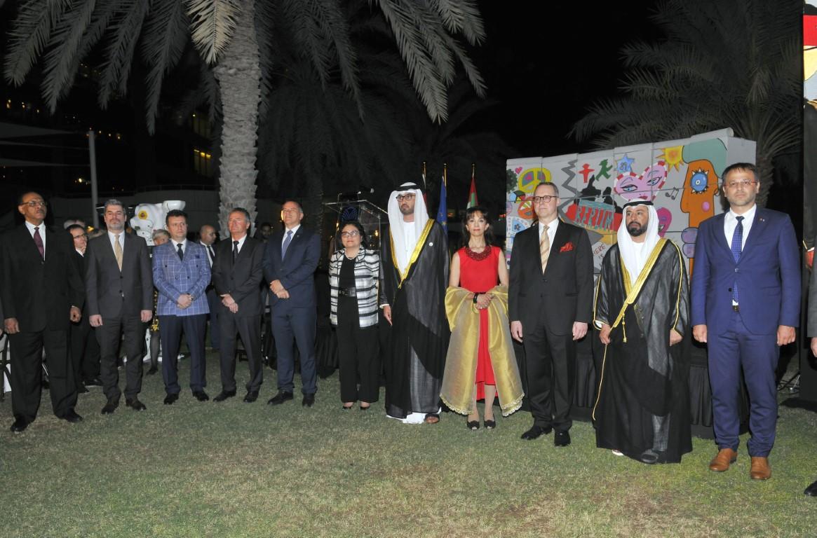 سلطان الجابر يحضر حفل السفارة الألمانية بمناسبة يومها الوطني