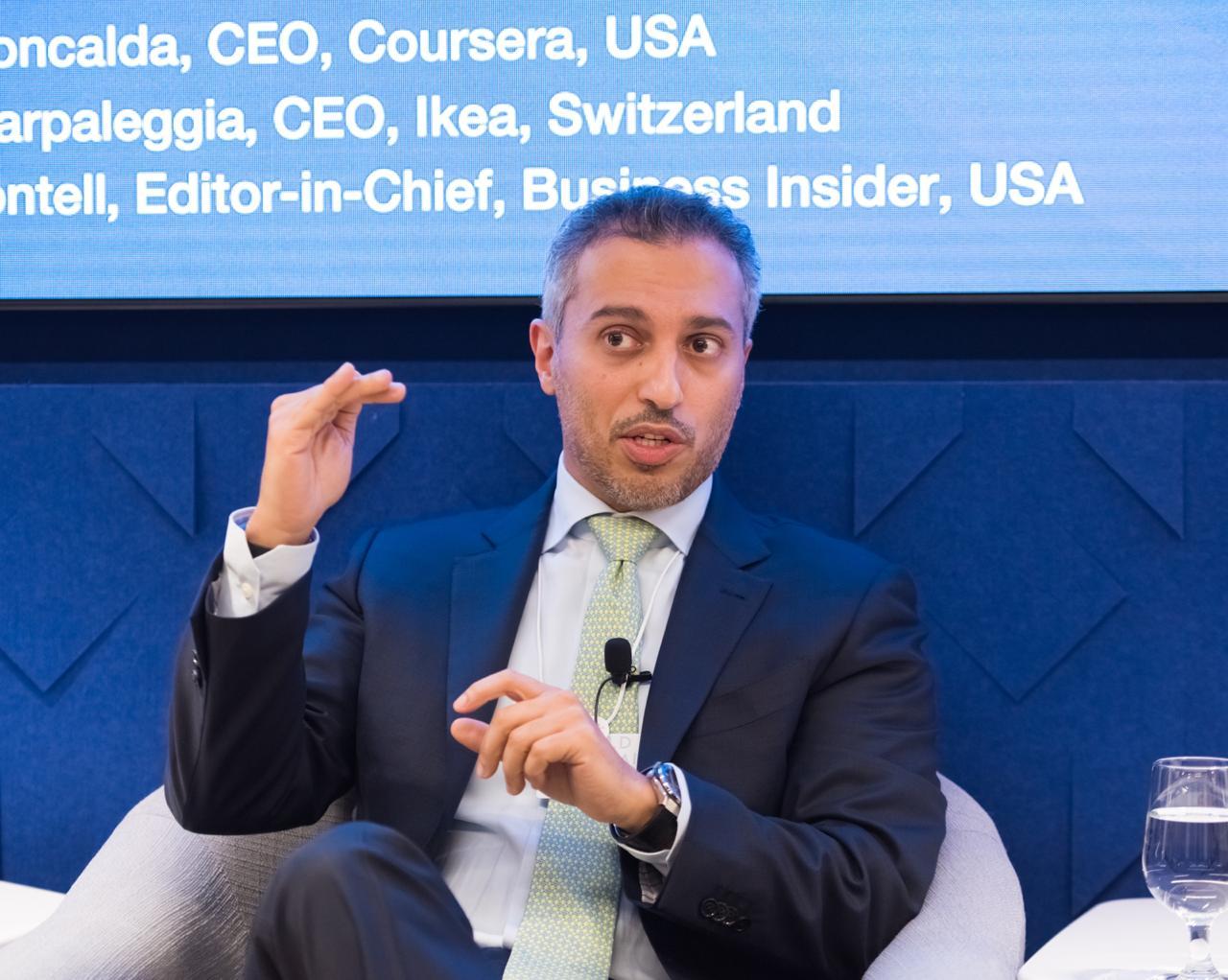 أحمد بالهول الفلاسي يناقش تحديات وظائف المستقبل في اجتماعات المنتدى الاقتصادي العالمي بنيويورك