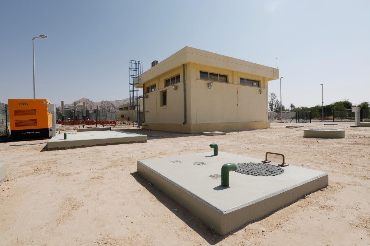 """""""مساندة"""" تنجز مشروع إنشاء شبكتي ري وتصريف مياه الأمطار في جبل حفيت وعين الفايضة بـ 50 مليون درهم"""