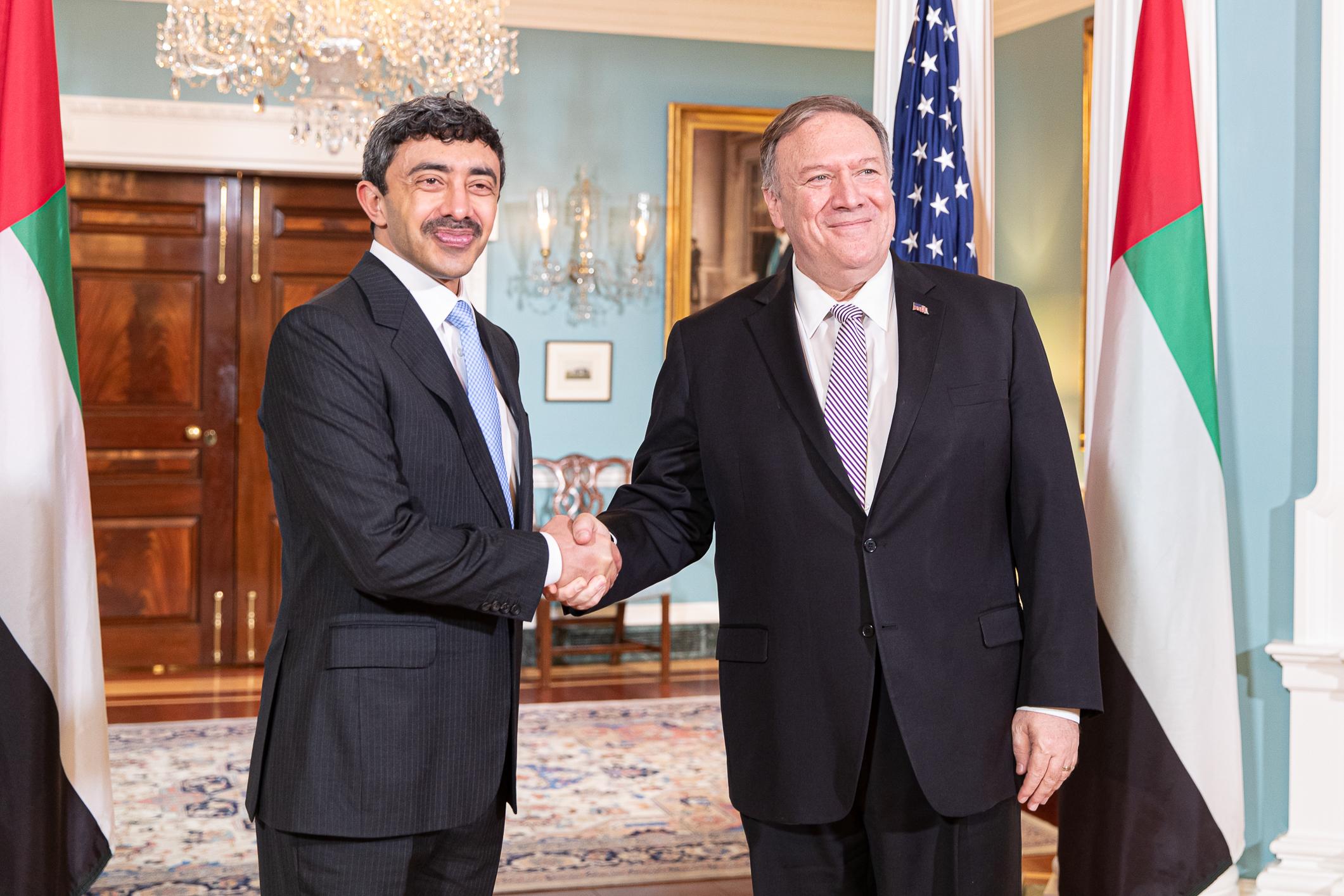 عبدالله بن زايد يلتقي كبار المسؤولين بالحكومة الأمريكية والكونجرس
