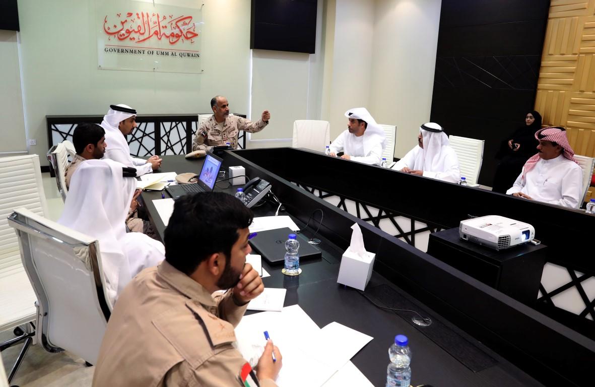 اللجنة المنظمة لحصن الاتحاد 7 تنسق للعرض في أم القيوين
