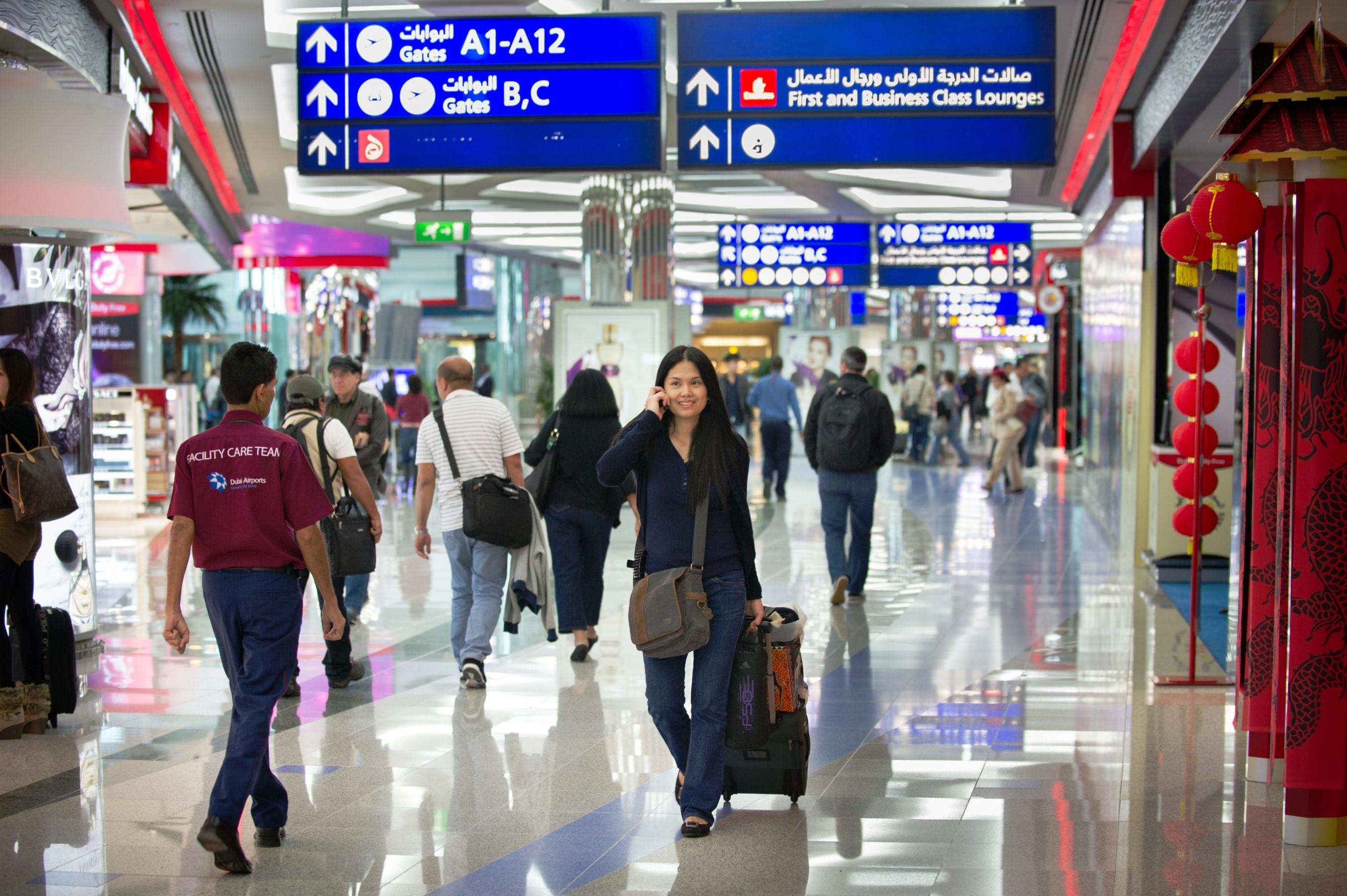 دبي الدولي يحتفظ بصدارته لقائمة مطارات العالم للعام الخامس على التوالي-1