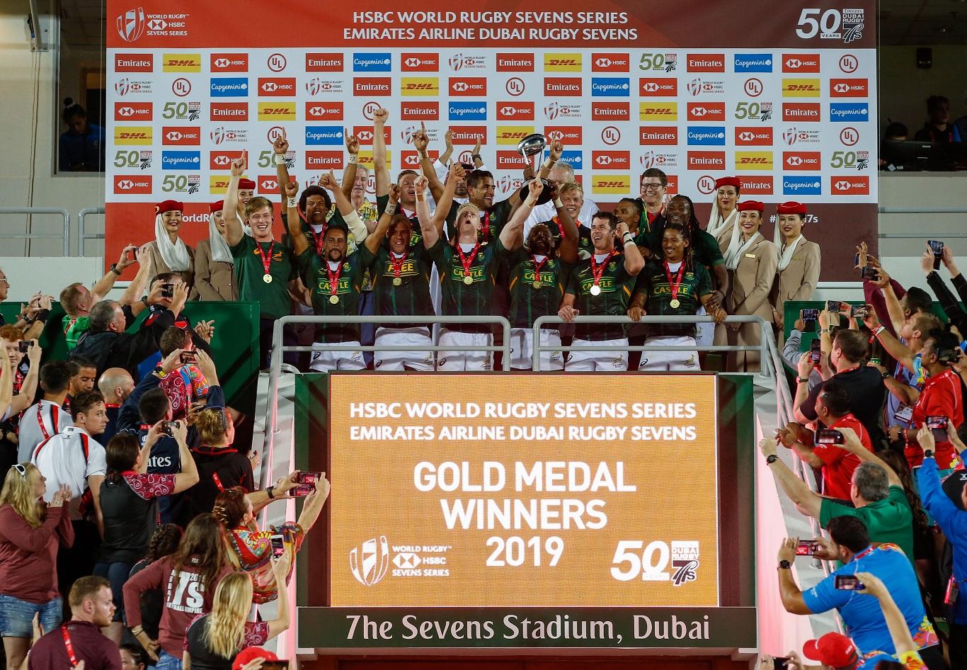 جنوب إفريقيا ونيوزيلاندا تتوجان بكأس بطولة طيران الإمارات لسباعيات دبي للرجبي