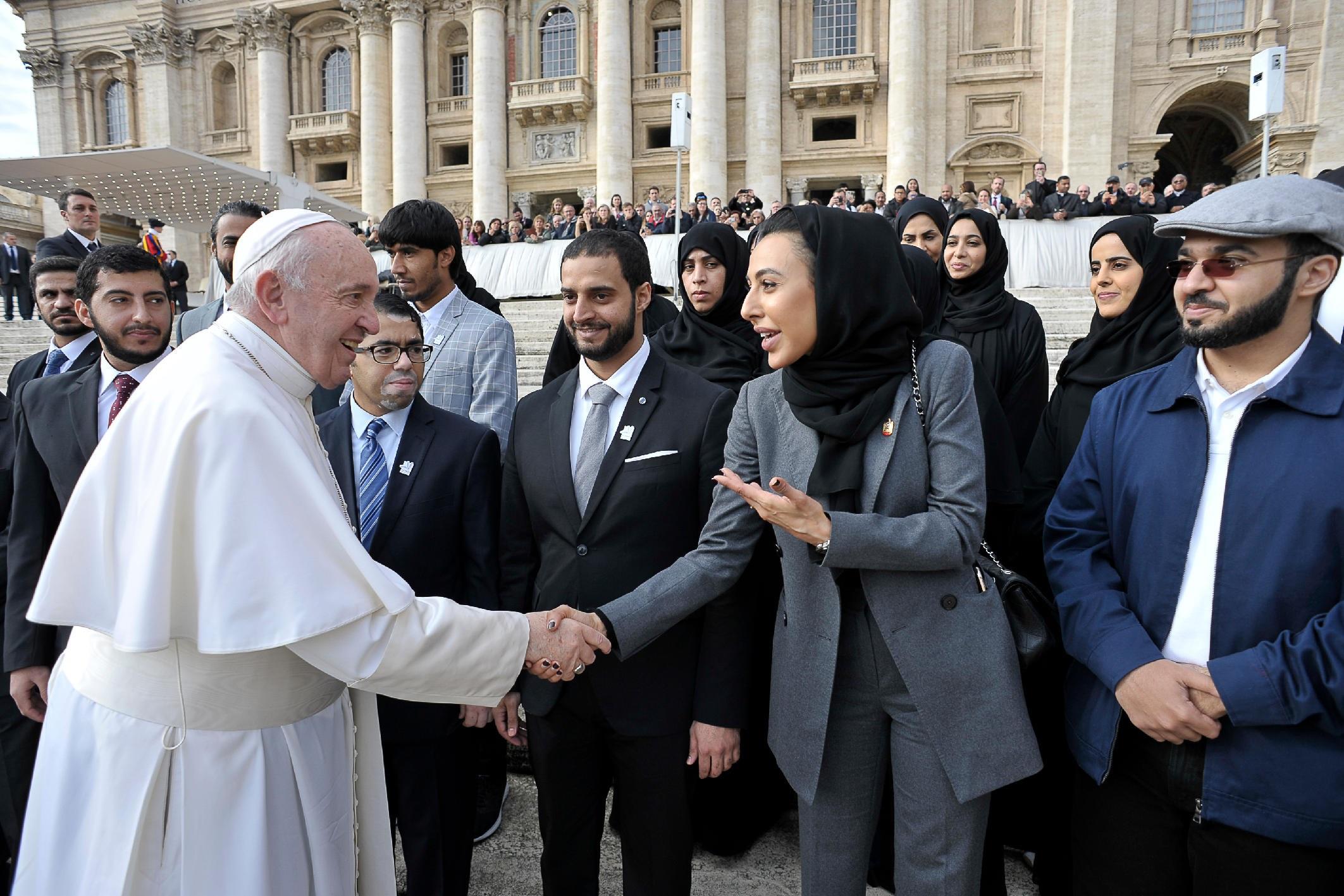 البابا فرنسيس: الإمارات نموذج في إرساء التسامح و التعايش و السلام