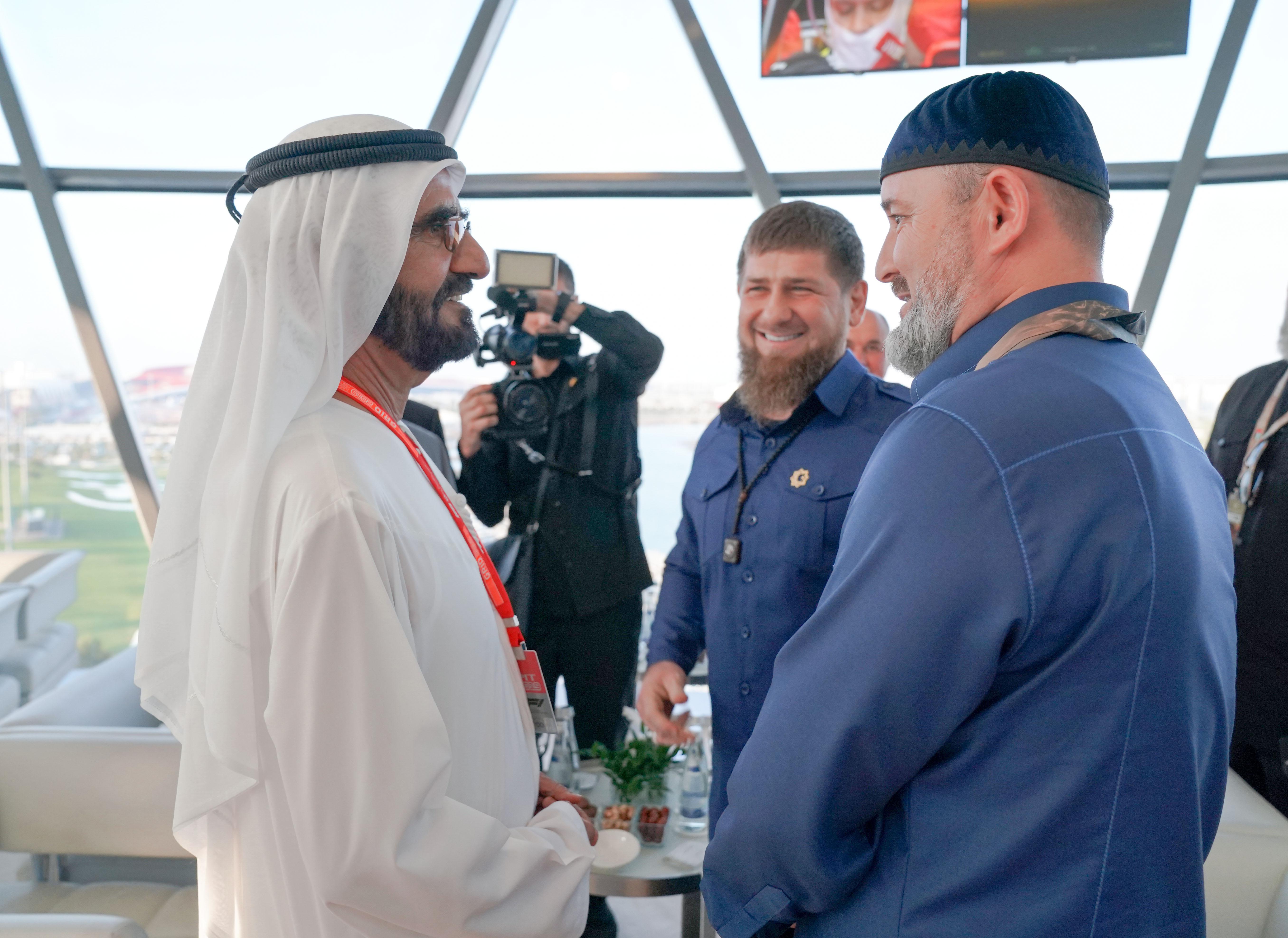 محمد بن راشد ومحمد بن زايد وولي عهد السعودية والضيوف يشهدون منافسات جائزة الاتحاد للطيران الكبرى للفورمولا 1 - الجولة الختامية لبطولة العالم 2019