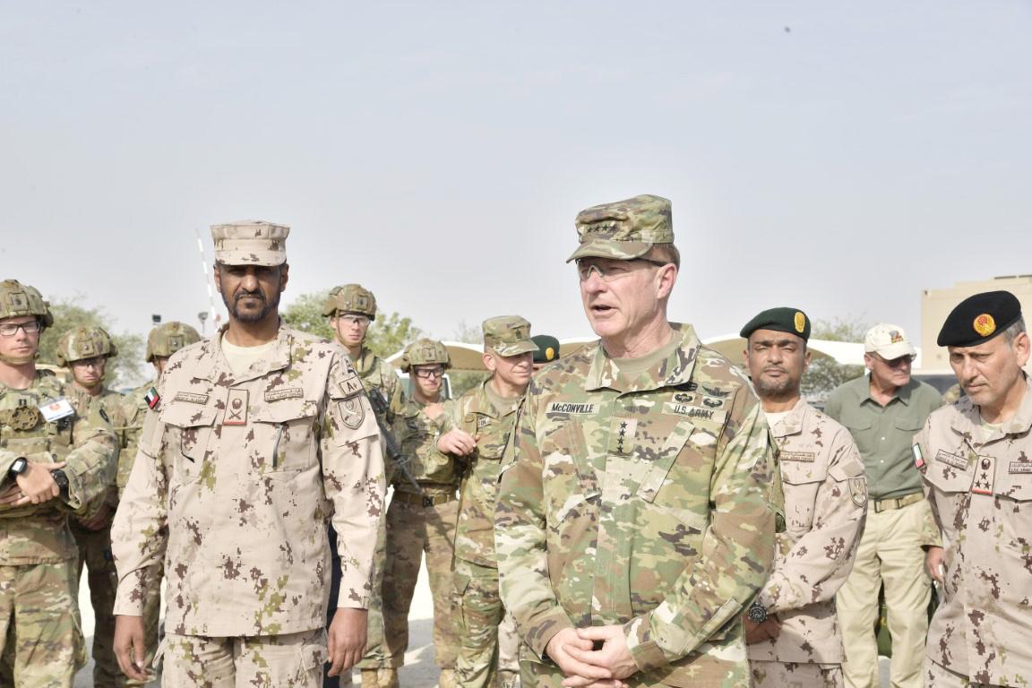 قائد القوات البرية و رئيس أركان الجيش الأمريكي يشهدان ختام التمرين المشترك