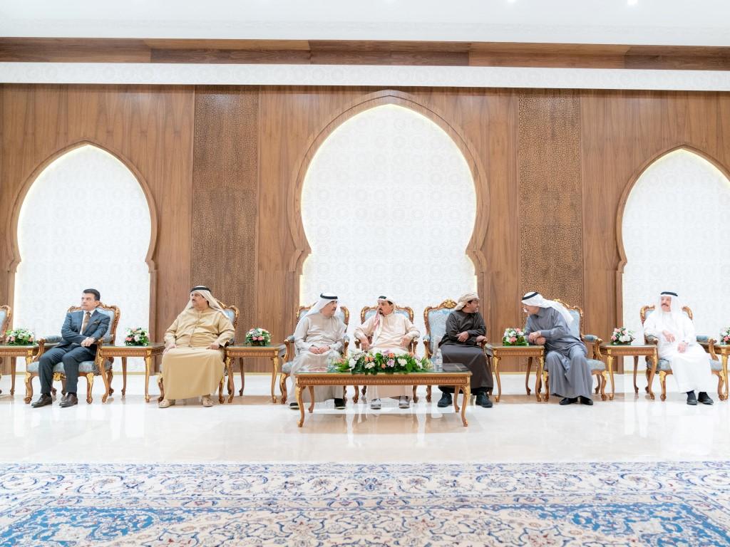 حاكم عجمان يستقبل حاكم أم القيوين وحامد بن زايد