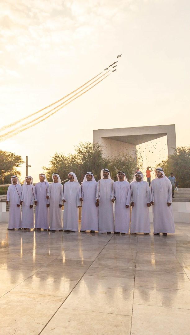 صرح زايد المؤسس يحتفي باليوم الوطني الـ48 للدولة