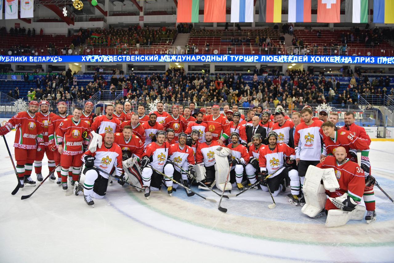 منتخبنا الوطني لهوكي الجليد يواجه فنلندا غدا على برونزية كأس رئيس بيلاروسيا