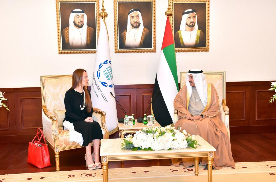 صقر غباش و رئيسة الاتحاد البرلماني الدولي يبحثان تعزيز التعاون المشترك