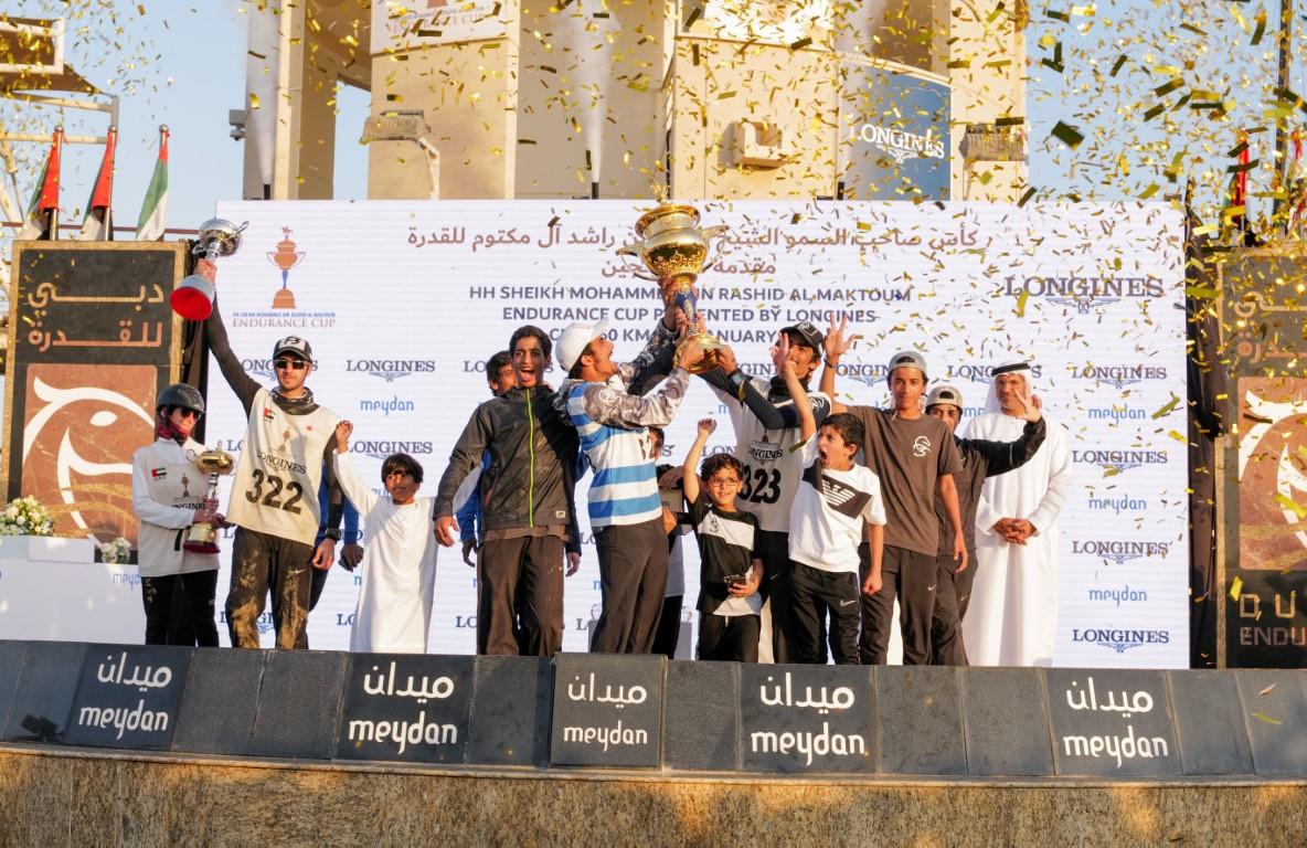 نائب رئيس الدولة يشهد بحضور حمدان بن محمد السباق الرئيسي لكأس محمد بن راشد للقدرة