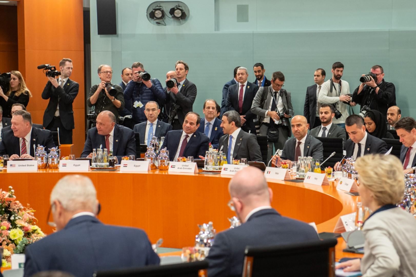 عبدالله بن زايد يترأس وفد الدولة في مؤتمر برلين حول ليبيا