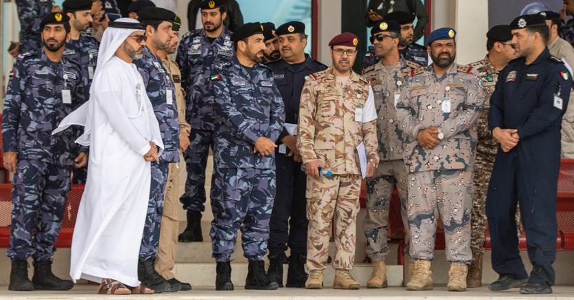"""الشعفار يتفقد تدريبات تمرين """"أمن الخليج العربي 2"""""""