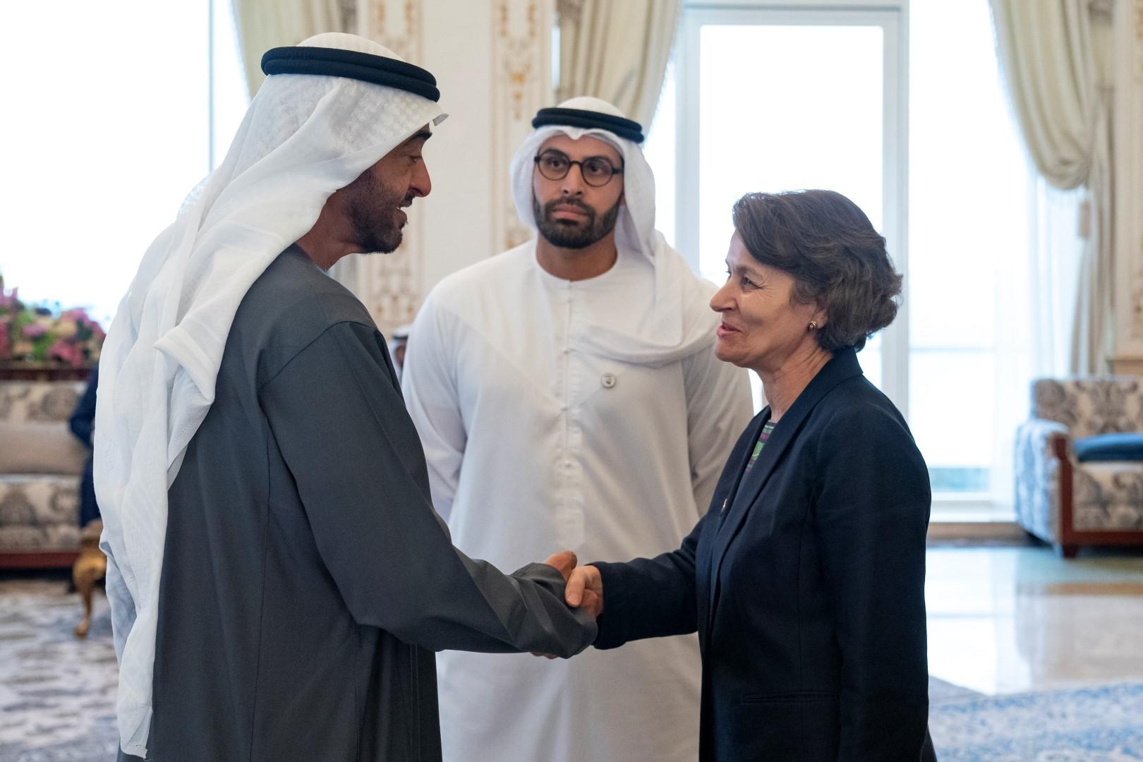 محمد بن زايد يستقبل أعضاء اللجنة العليا لتحقيق أهداف وثيقة الأخوة الإنسانية