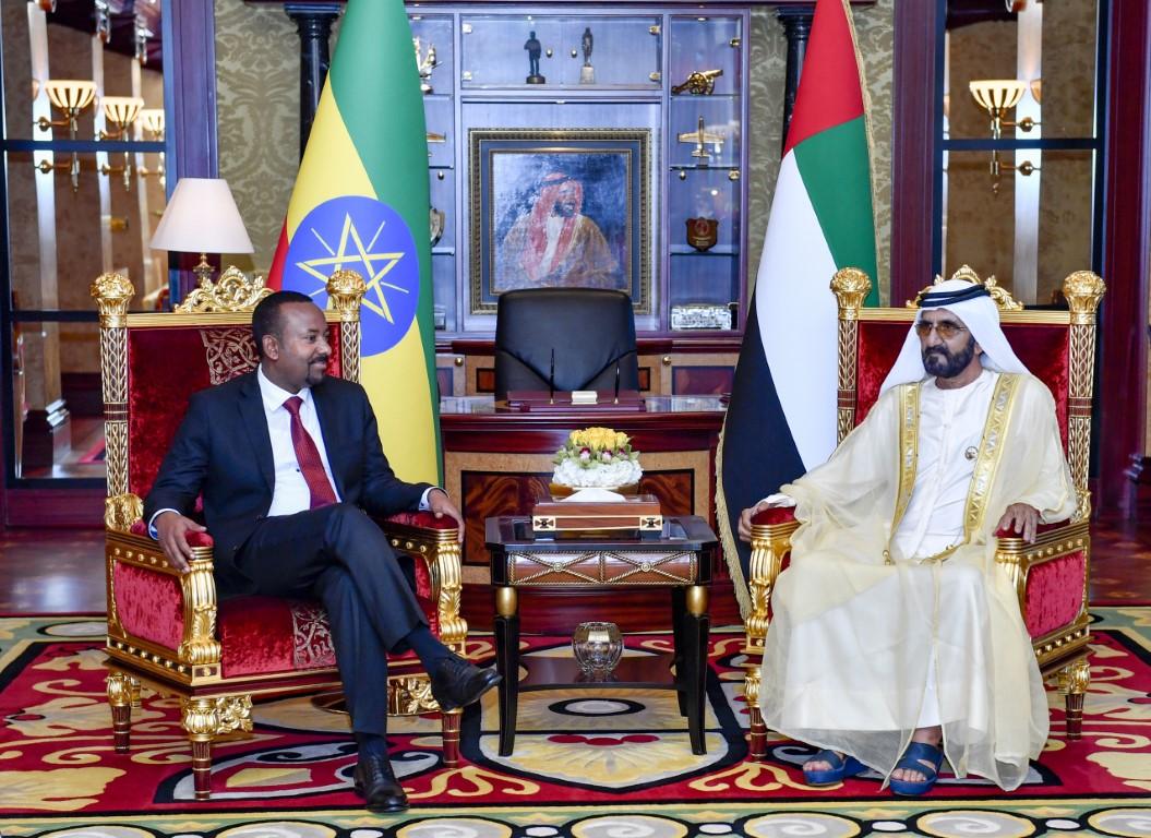 محمد بن راشد يستقبل رئيس ورزاء إثيوبيا