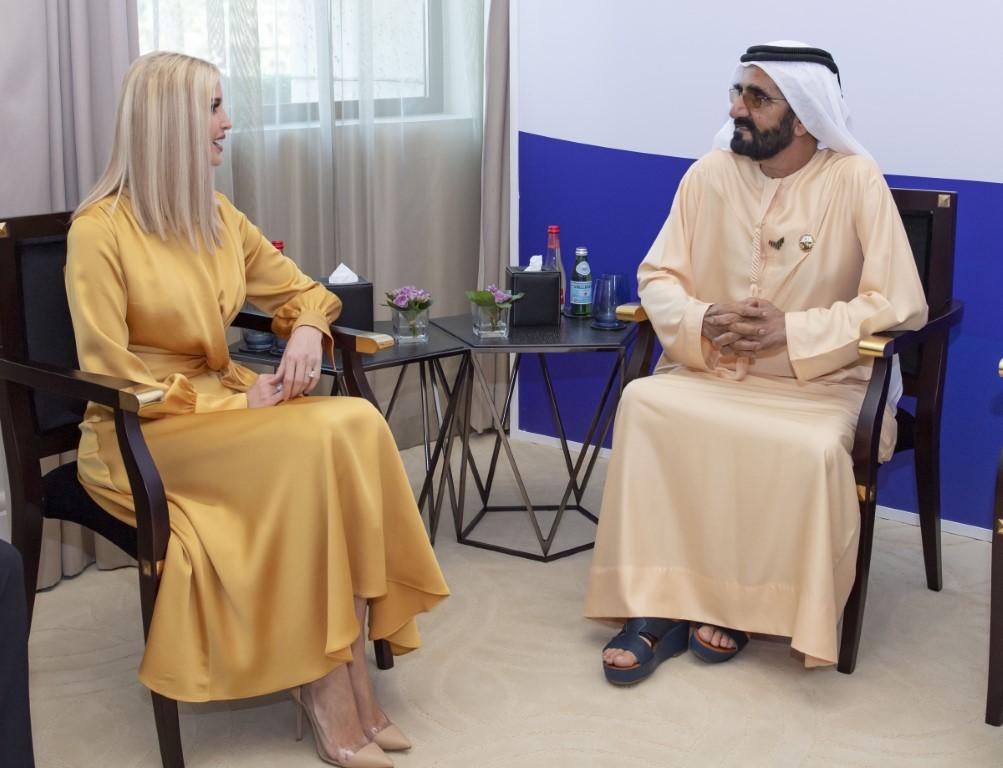 محمد بن راشد يستقبل مستشارة الرئيس الأمريكي