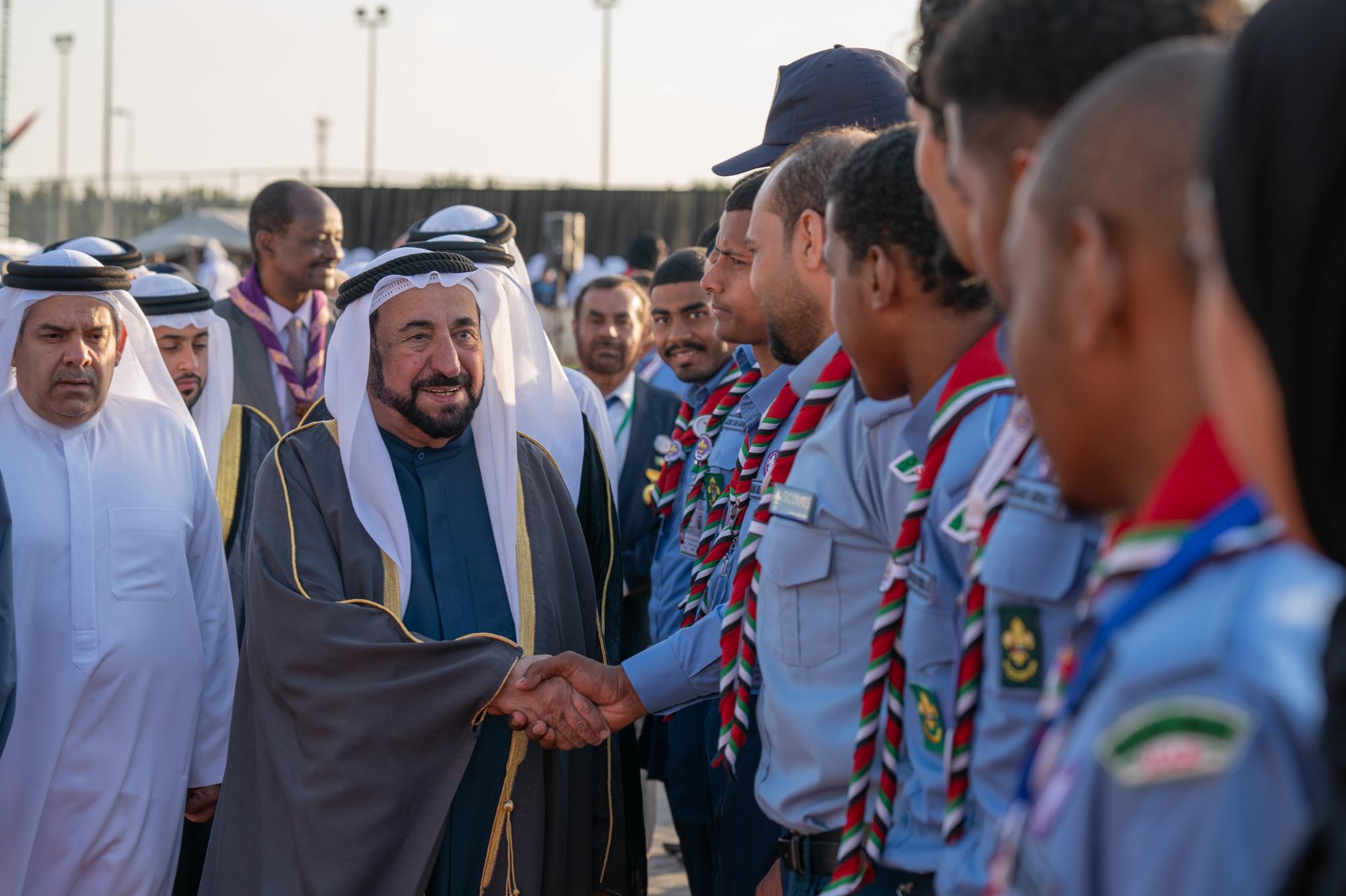 سلطان القاسمي يشهد افتتاح فعاليات اللقاء الكشفي الدولي التاسع في مفوضية كشافة الشارقة