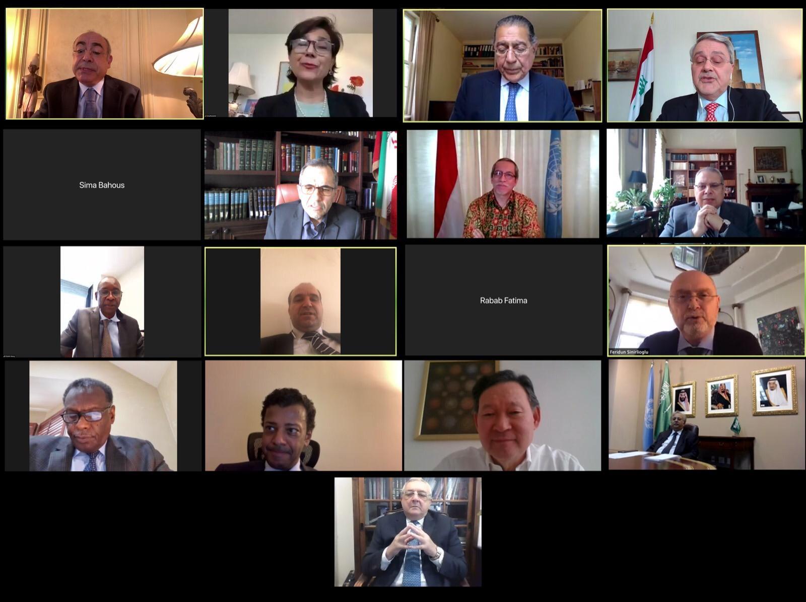 الإمارات والأمم المتحدة تستضيفان لقاءً عبر الاتصال المرئي مع أعضاء منظمة التعاون الإسلامي