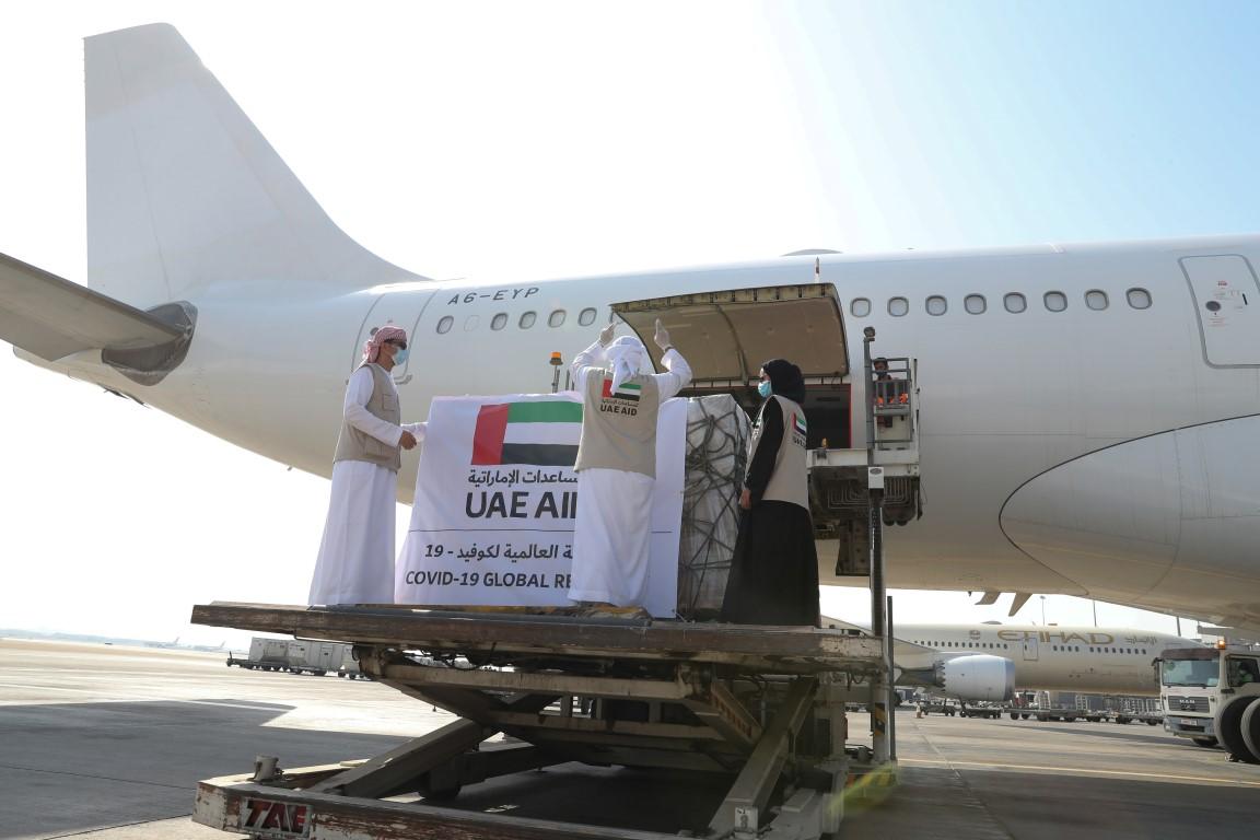 الإمارات ترسل مساعدات طبية إلى أفغانستان لتعزيز جهودها في مكافحة انتشار /كوفيد-19/