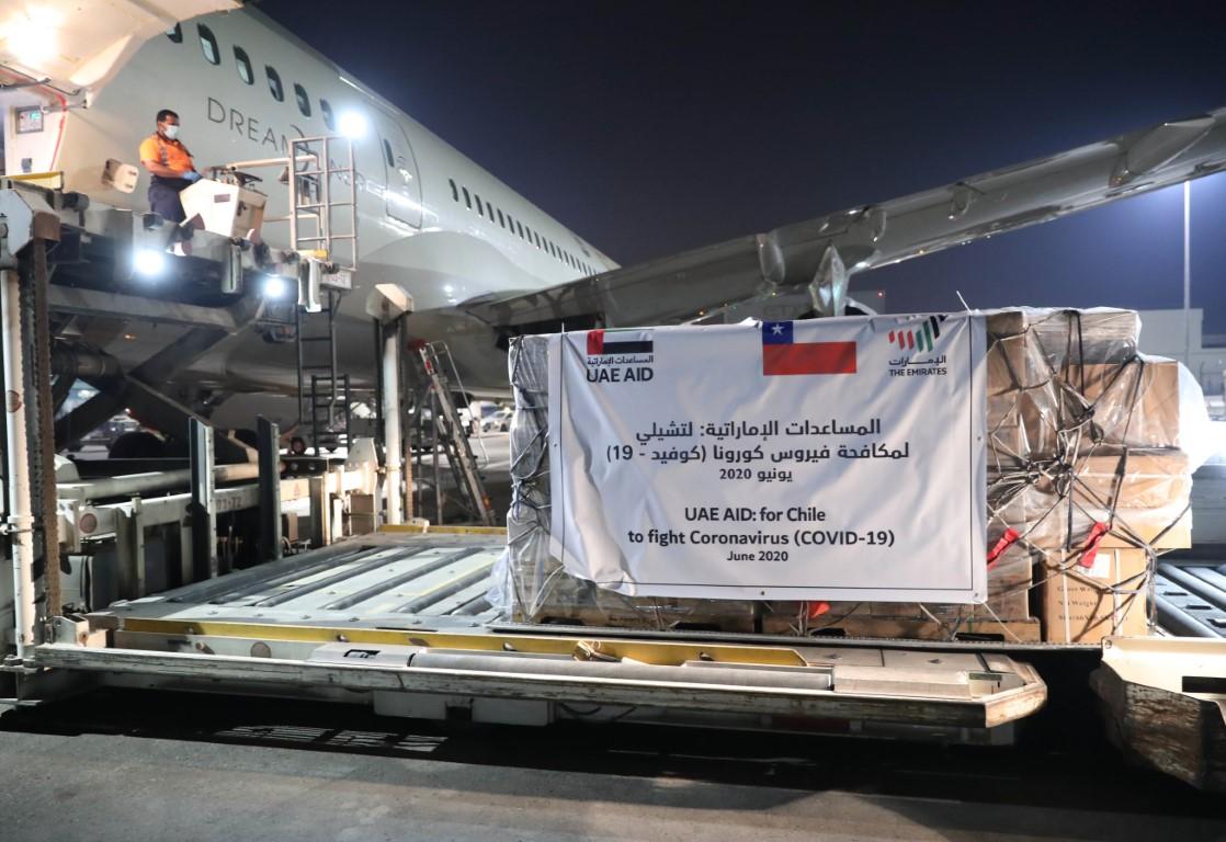 """الإمارات ترسل مساعدات طبية إلى تشيلي لدعمها في مكافحة انتشار """"كوفيد-19"""""""