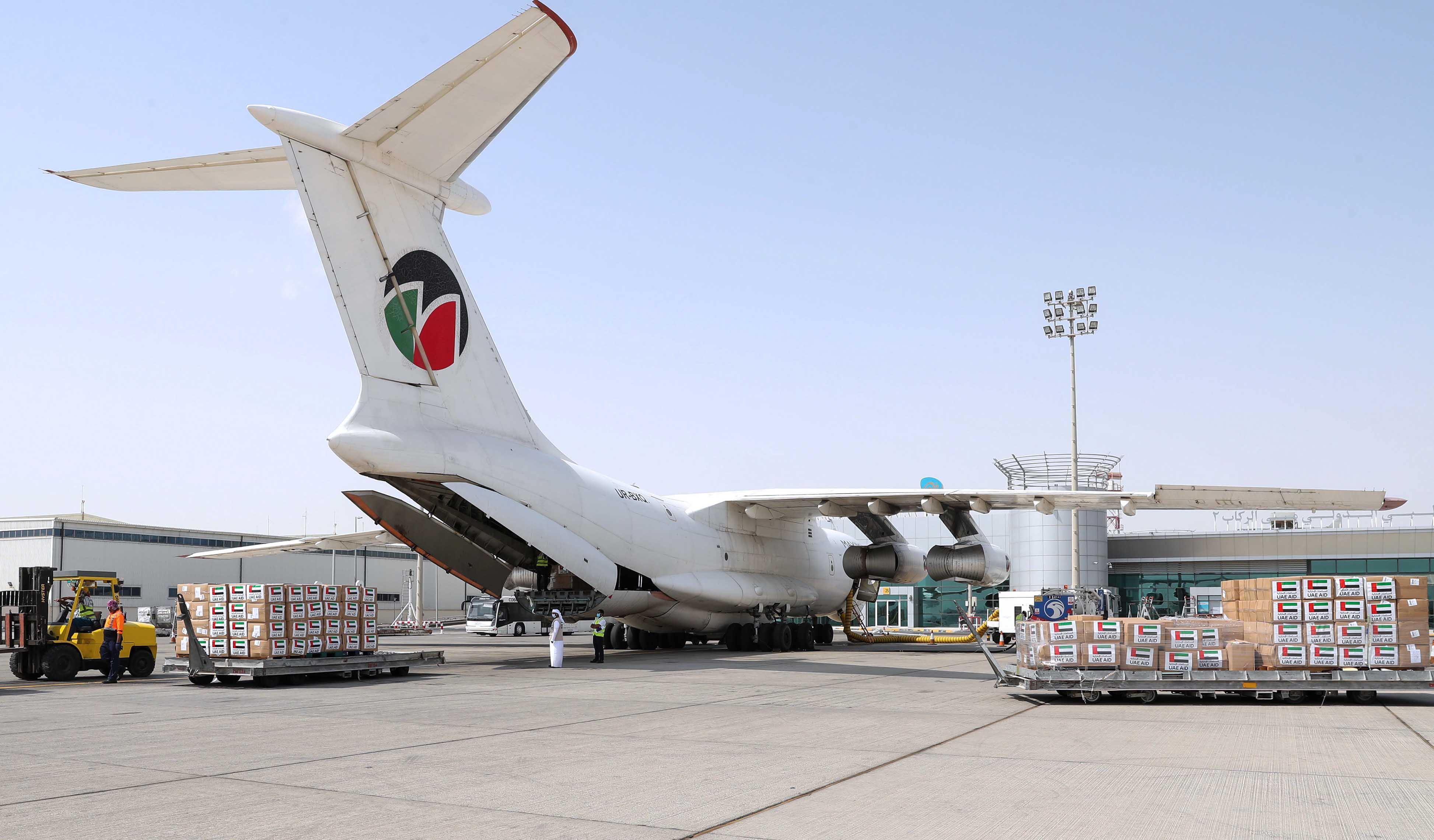 """الإمارات ترسل مساعدات طبية إلى إقليم كردستان العراق لتعزيز جهودها في مكافحة انتشار """" كوفيد-19 """""""