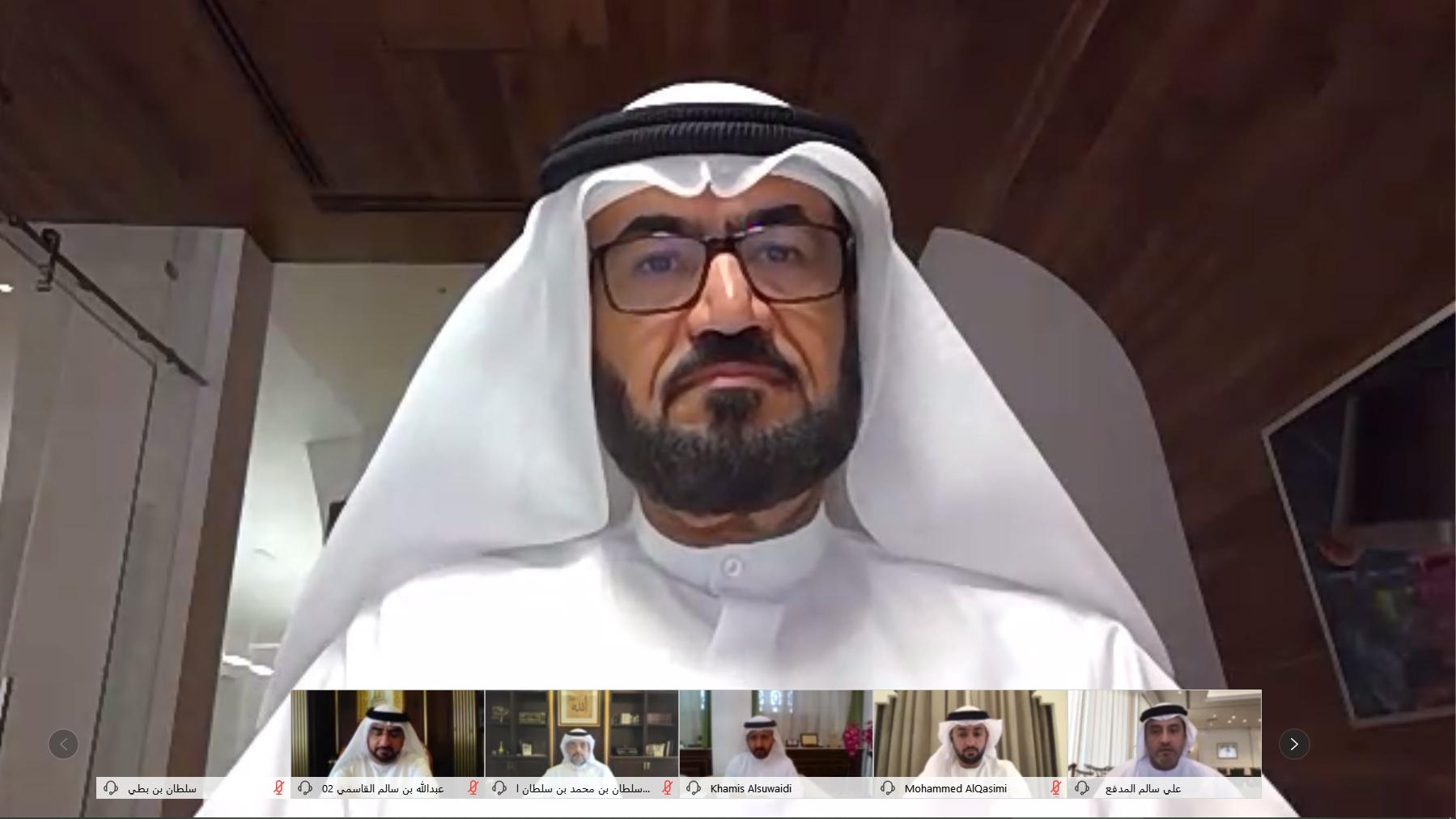 ولي عهد الشارقة يترأس اجتماع المجلس التنفيذي عن بعد