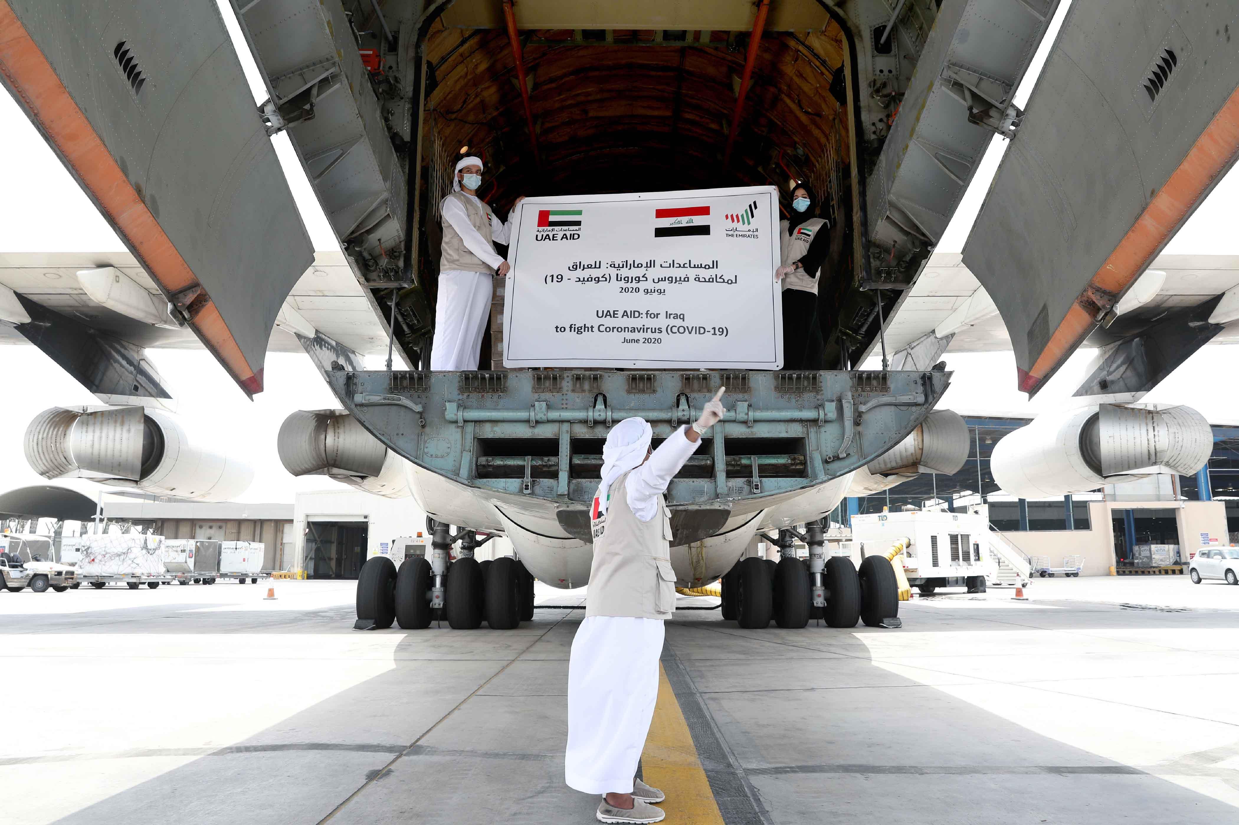 """الإمارات ترسل مساعدات طبية إلى العراق لدعمها في مكافحة """"كوفيد-19"""""""