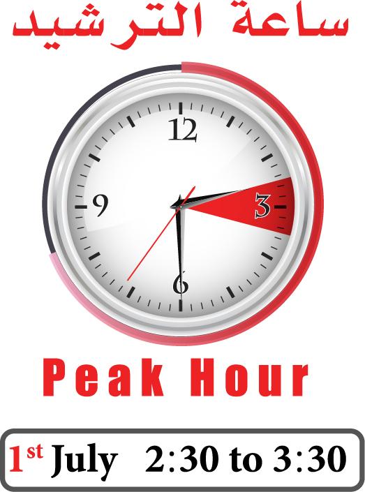 كهرباء الشارقة تدعو للتضامن مع ساعة الترشيد وتخفيض الأحمال في أوقات الذروة