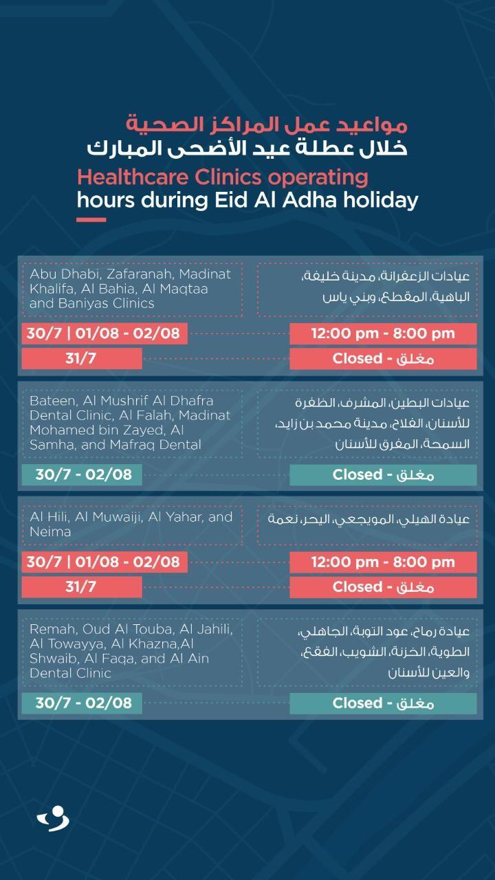"""""""صحة"""" تعلن مواعيد عمل منشآتها خلال عطلة عيد الأضحى المبارك"""