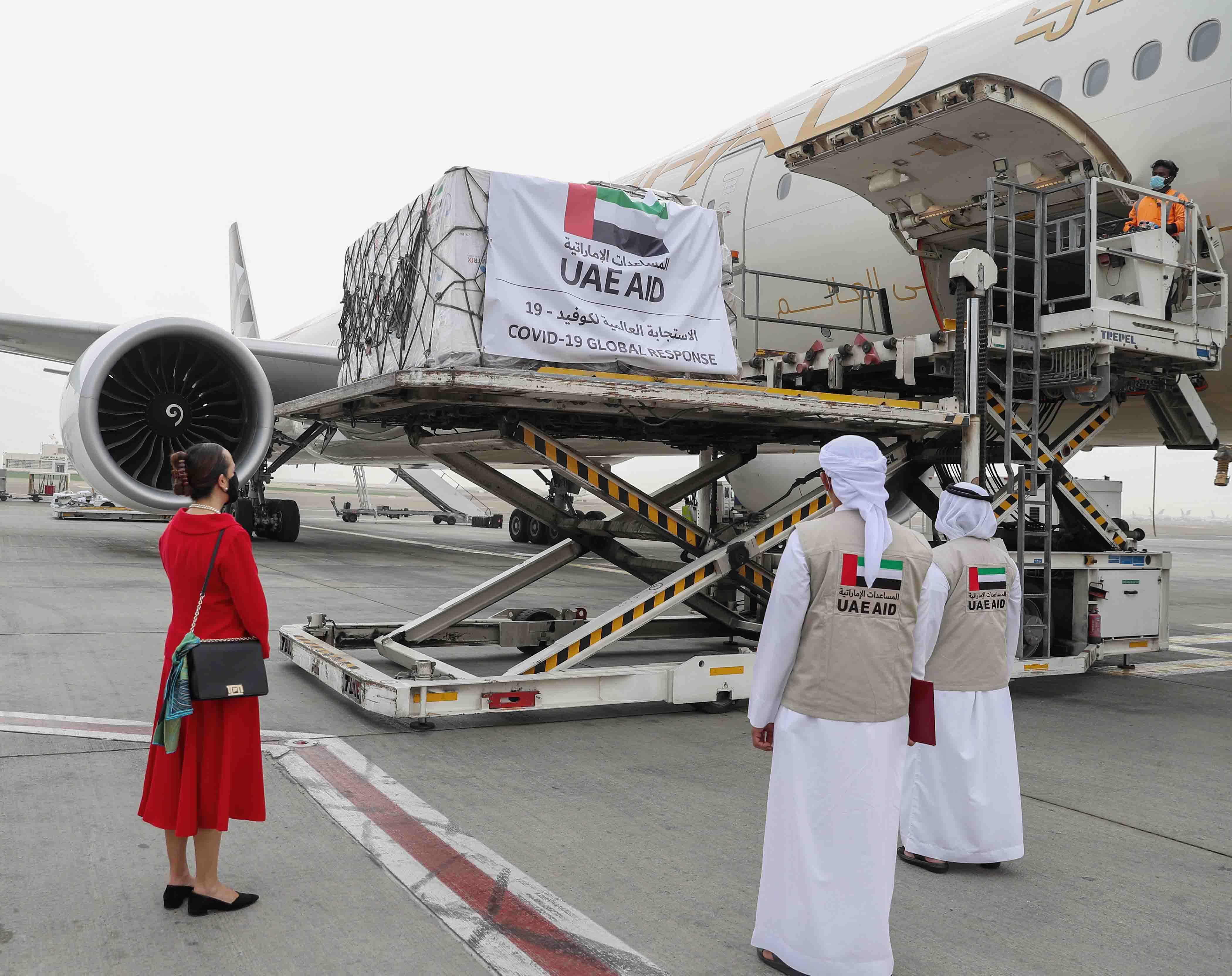 """الإمارات ترسل طائرة مساعدات طبية إلى المكسيك لدعمها في مكافحة فيروس """"كورونا"""""""
