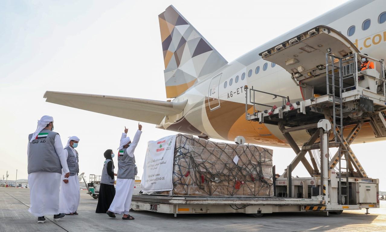 """بمكرمة من رئيس الدولة .. محمد بن زايد يوجه بتقديم مساعدات طبية عاجلة إلى لبنان لمكافحة فيروس """"كورونا"""""""