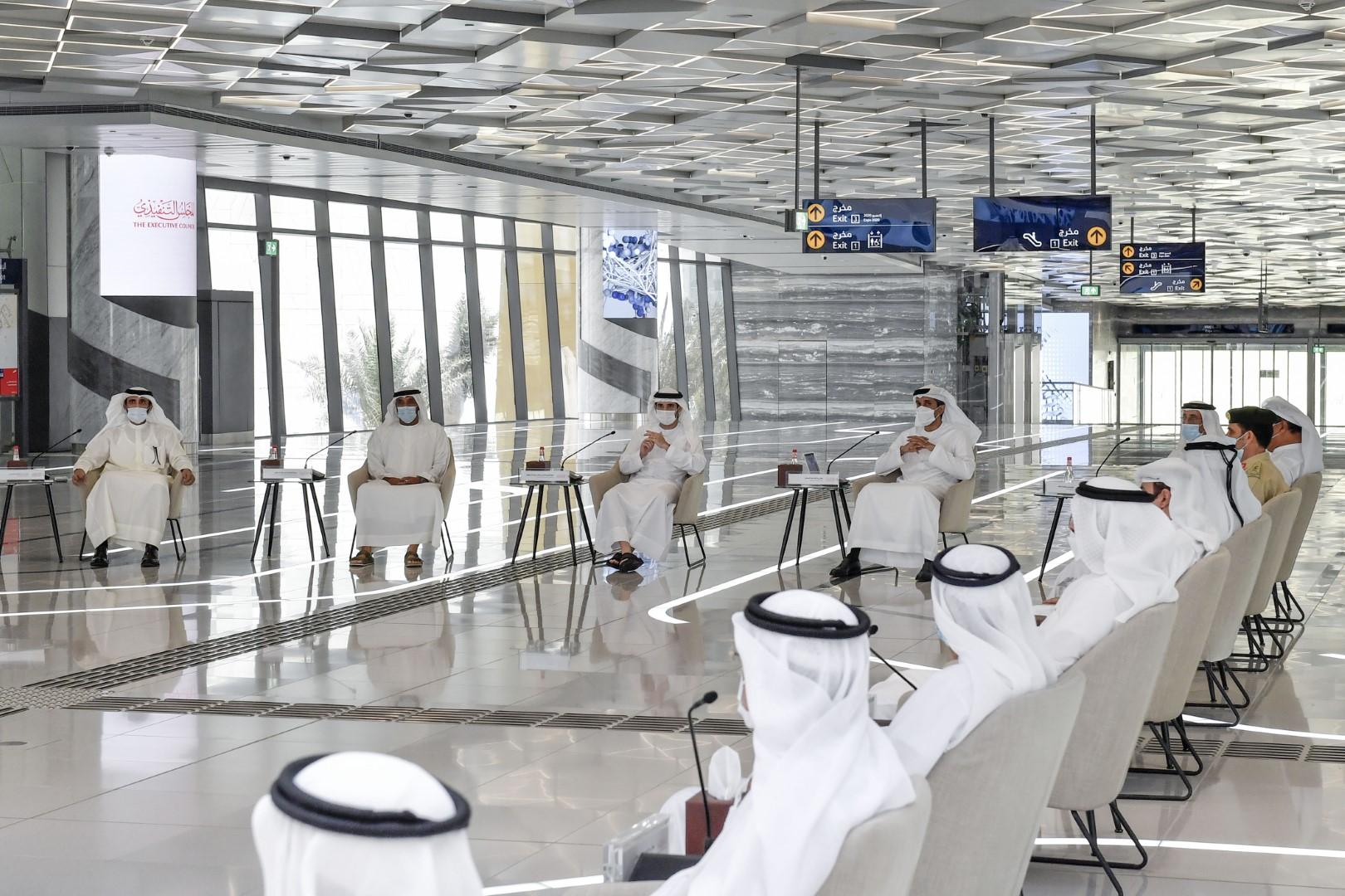 """حمدان بن محمد يترأس اجتماع المجلس التنفيذي في محطة مترو """" إكسبو """""""