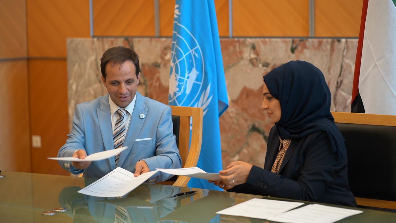 """مذكرة تفاهم بين """"الإمارات الدبلوماسية"""" وجامعة الأمم المتحدة للسلام"""