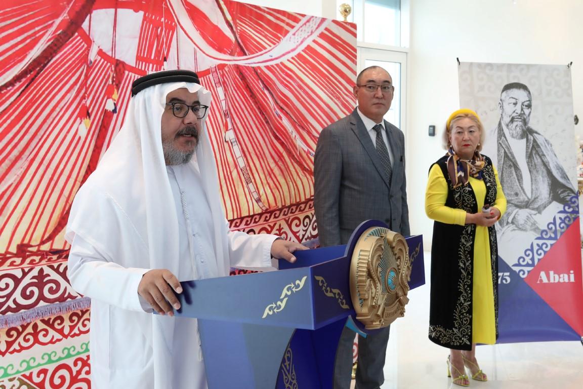 """سفير كازاخستان يفتتح مركز """"آباي"""" للمعلومات والثقافة في أبوظبي"""