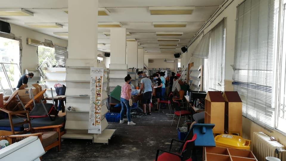 بدور القاسمي توجه بترميم عدد من المكتبات المتضررة من انفجار مرفأ بيروت