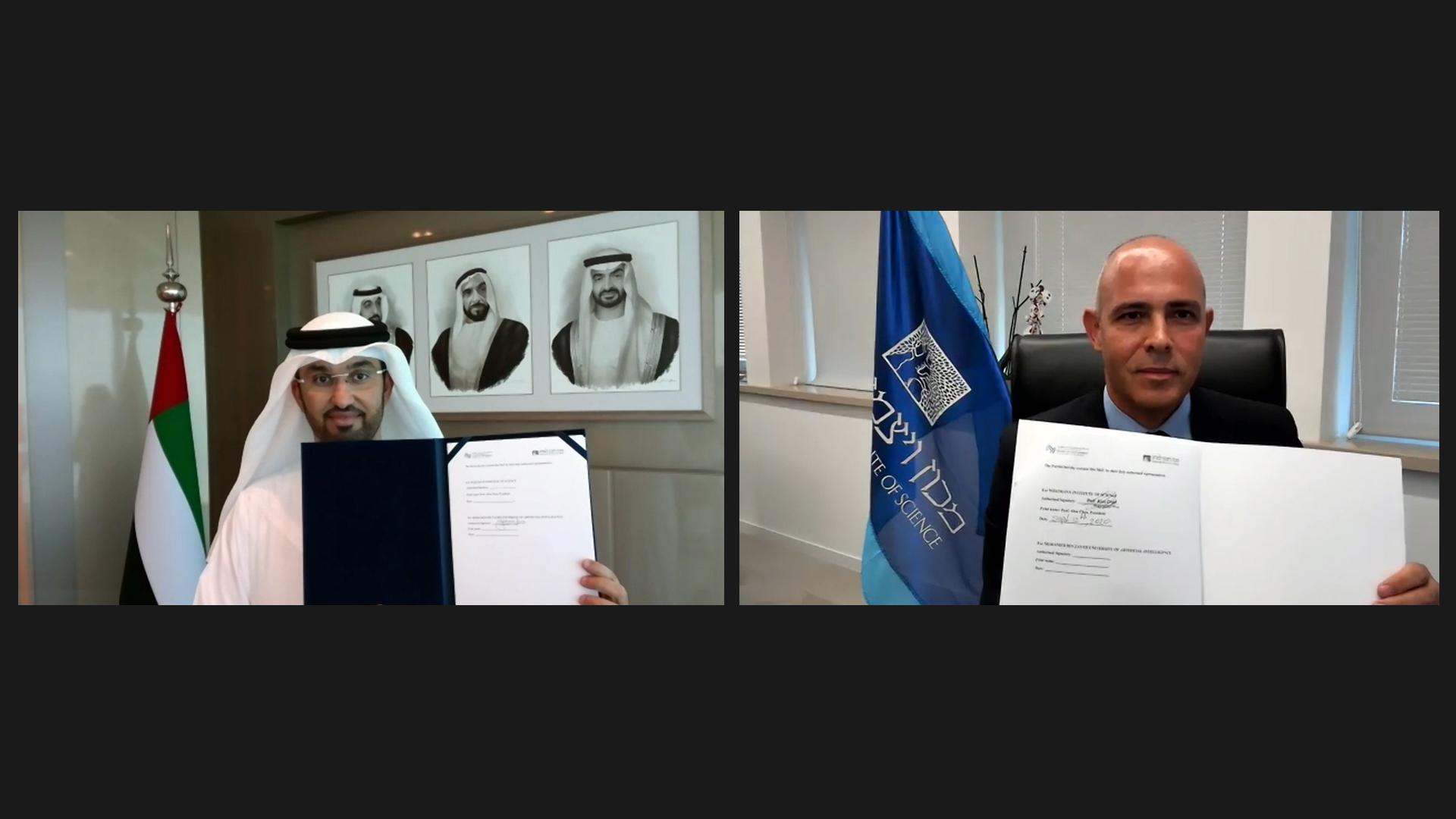 جامعة محمد بن زايد للذكاء الاصطناعي توقع مذكرة تفاهم مع معهد وايزمان للعلوم للتعاون في أبحاث الذكاء الاصطناعي