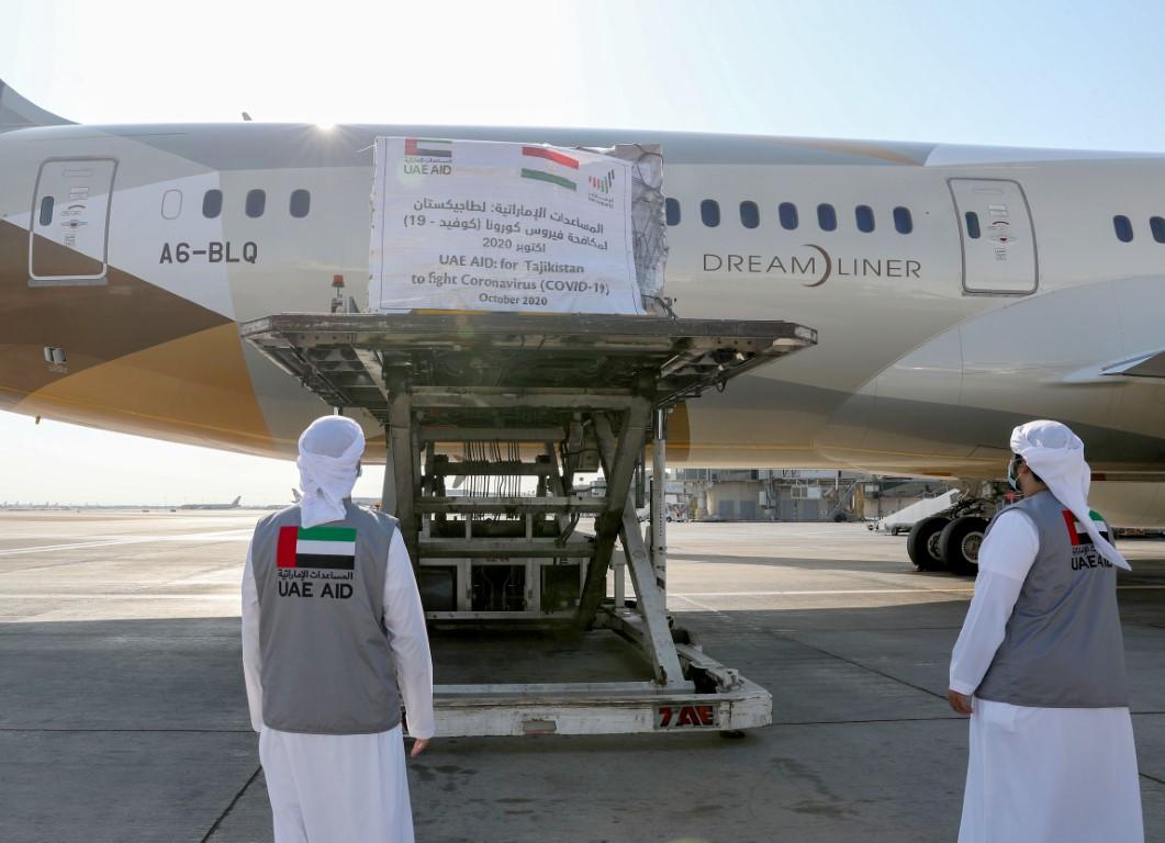 الإمارات ترسل طائرة مساعدات طبية ثانية لطاجيكستان لدعم جهودها في مكافحة /كوفيد-19/