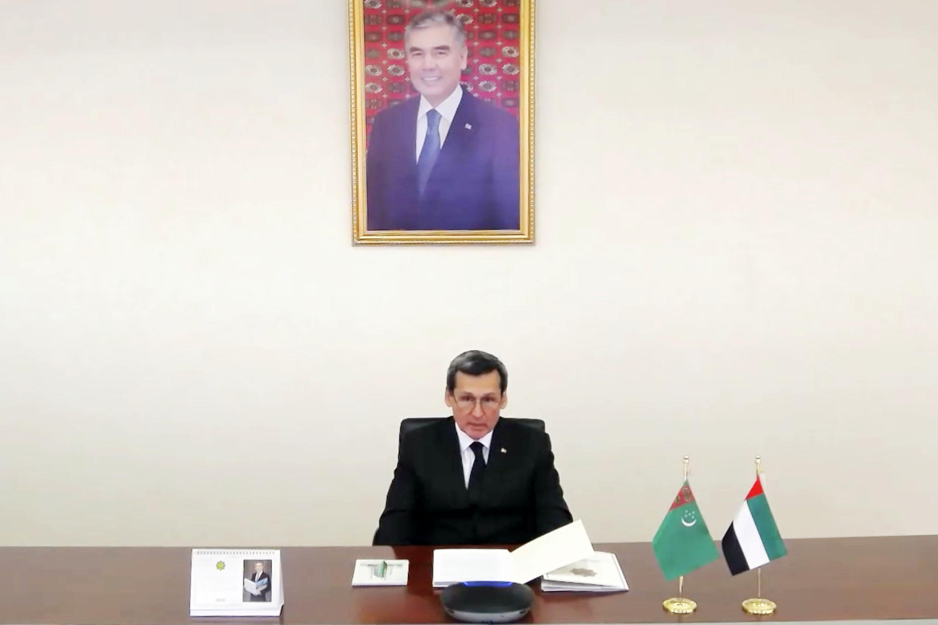 عبدالله بن زايد يترأس جانب الدولة في أعمال الدورة الـ3 للجنة المشتركة الإماراتية - التركمانية