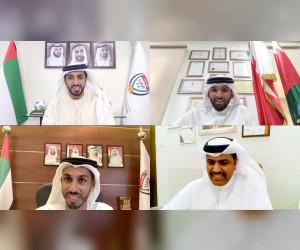 راشد بن حميد وعلي بن خليفة يبحثان تعزيز التعاون بين الاتحادين الإماراتي والبحريني