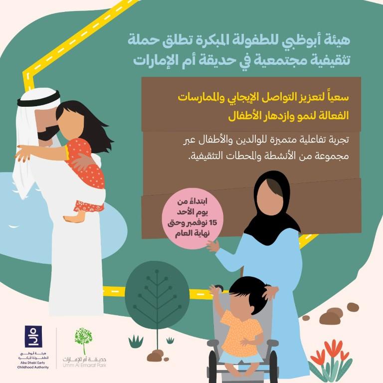 حملة تثقيفية مجتمعية في حديقة أم الإمارات غدا