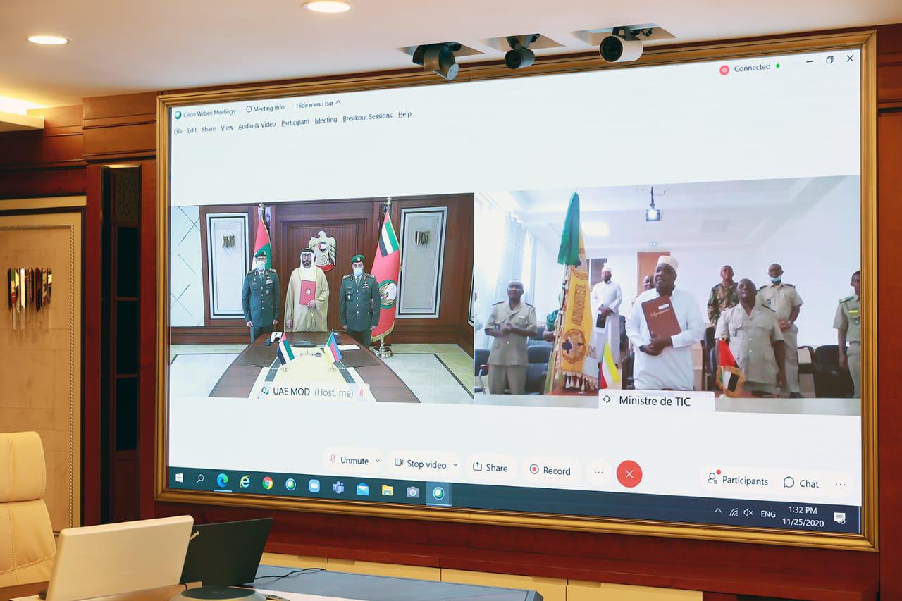 البواردي يوقع مذكرة تفاهم مع جزر القمر حول التعاون في المجال الدفاعي