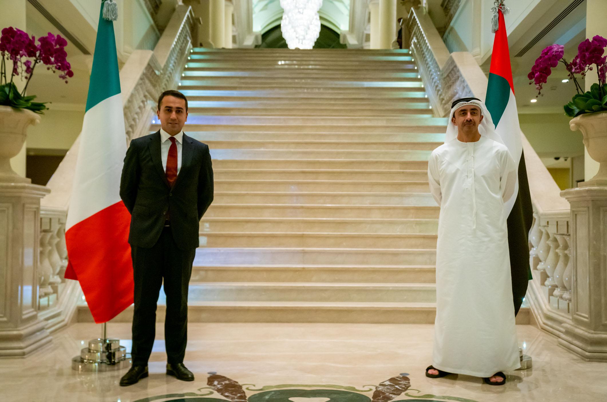 عبدالله بن زايد ووزير الخارجية الإيطالي يترأسان الحوار الاستراتيجي الرابع بين البلدين