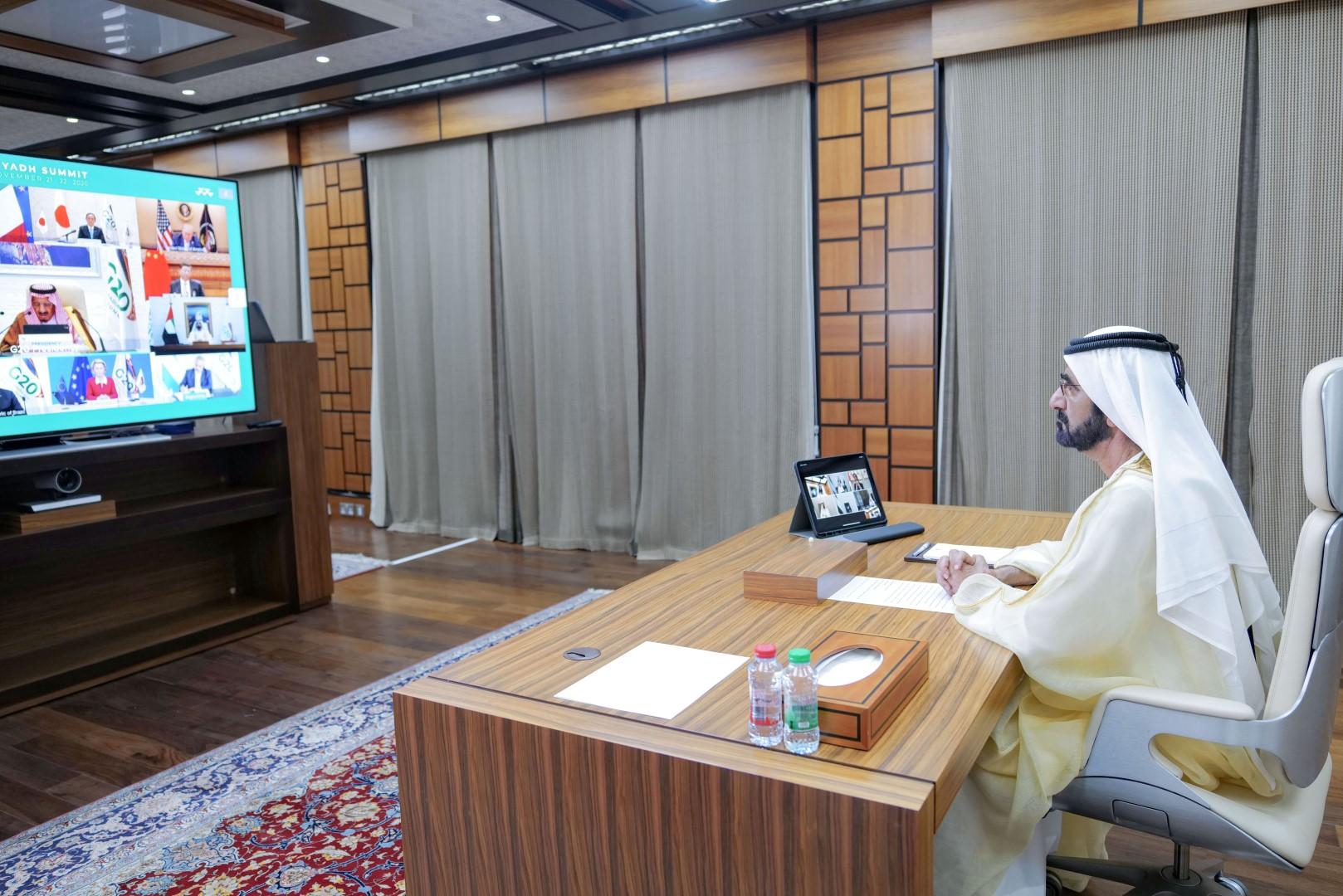 محمد بن راشد: العالم اليوم يمر بمرحلة استثنائية.. والعمل الجماعي أسرع طريق للتعافي
