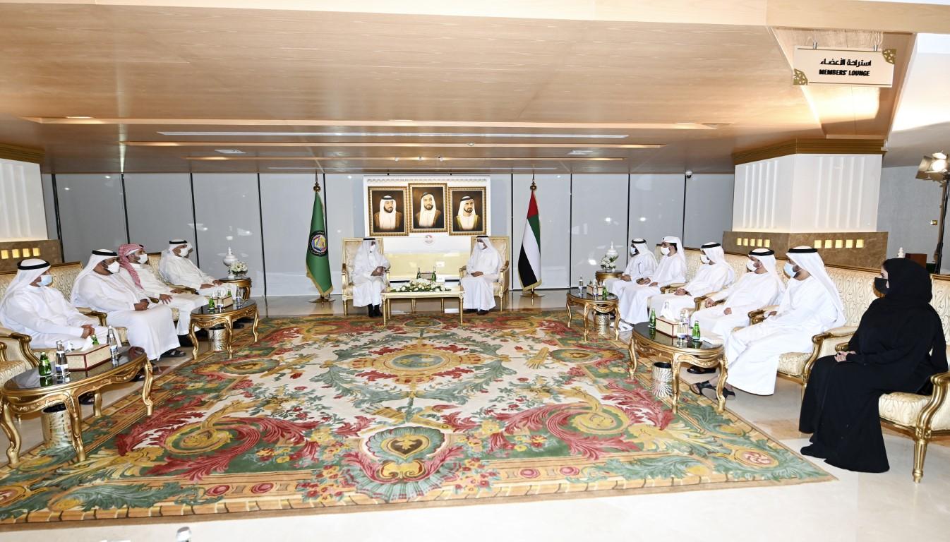 صقر غباش يستقبل أمين عام مجلس التعاون الخليجي