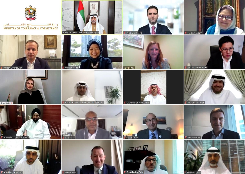 نهيان بن مبارك يشهد إطلاق أول بطولة للتسامح في الرياضة الإلكترونية