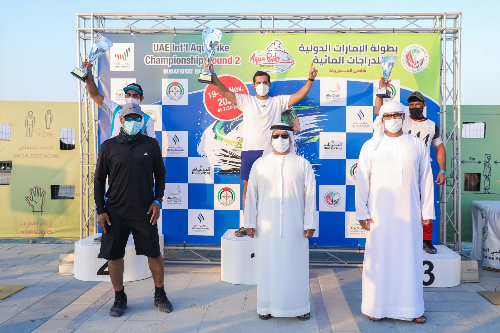 دولياك يحلق بلقب واقف محترفين والملا يفوز في الاستعراض ببطولة الدراجات المائية