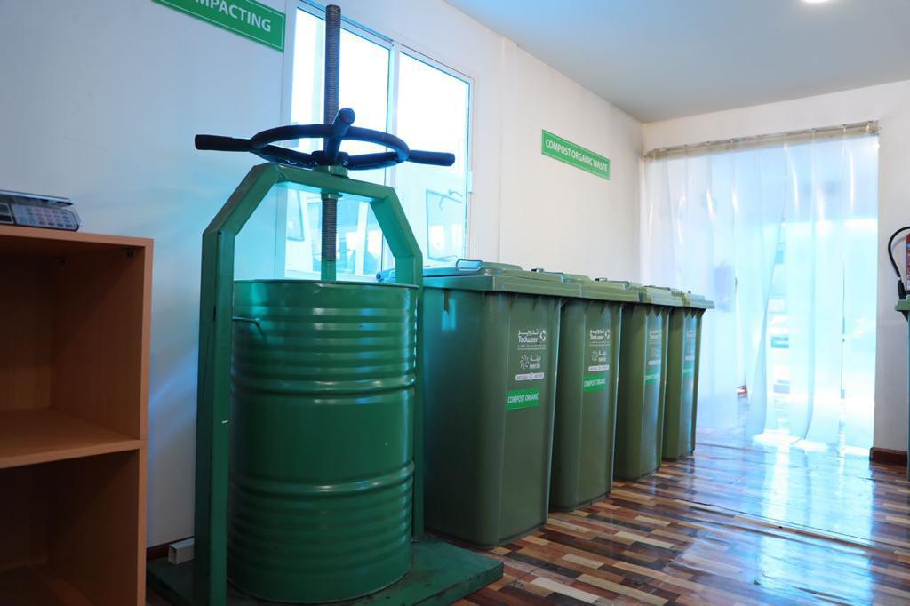 """""""تدوير"""" تفتتح مشروع وحدة معالجة النفايات العضوية في مدينة أبوظبي"""